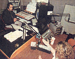 WFEA's German Ortiz interviews a guest on La AM Latinos - April 10, 2000